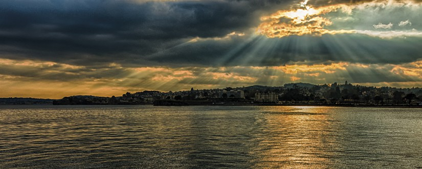 Ray of light over Torquay