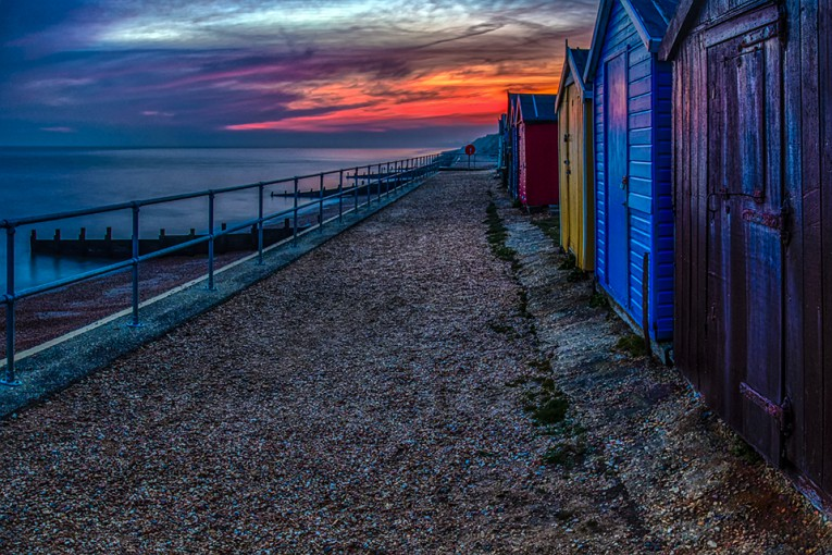 Beach huts, Milton-on-Sea