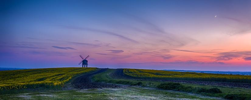 Chesterton Windmill twilight
