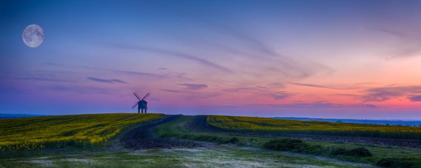 Chesterton Windmill moon