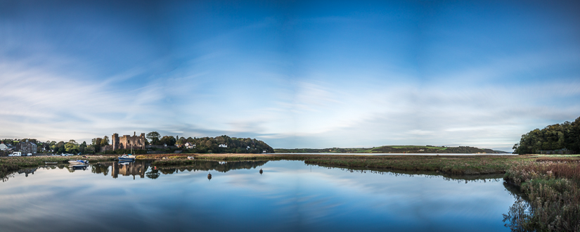 Laugharne Castle Pano