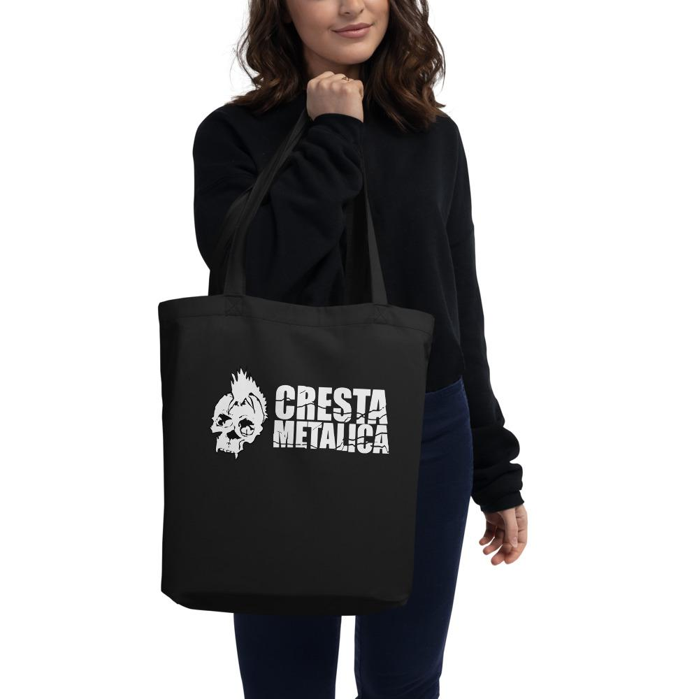 Cresta Metalica Black Eco Tote Bag - Cresta Store - Deskarriados