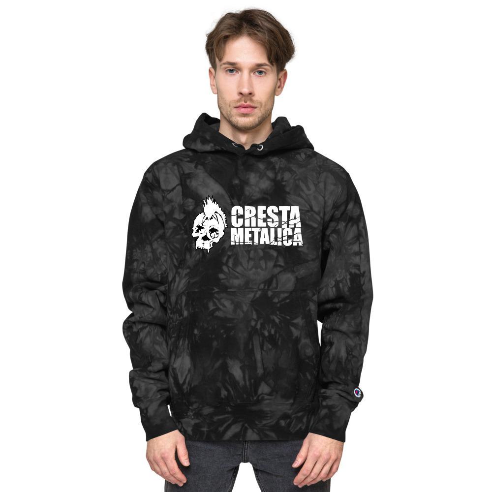 Cresta Metalica Unisex Champion tie-dye hoodie - Cresta Store - Deskarriados