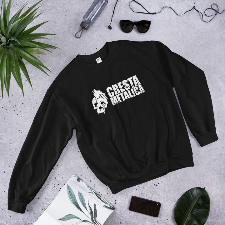 Cresta Metalica Unisex Sweatshirt Black - Cresta Store - Deskarriados