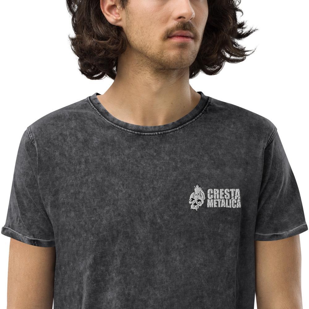 Cresta Metalica Denim Black T-Shirt - Cresta Store - Deskarriados