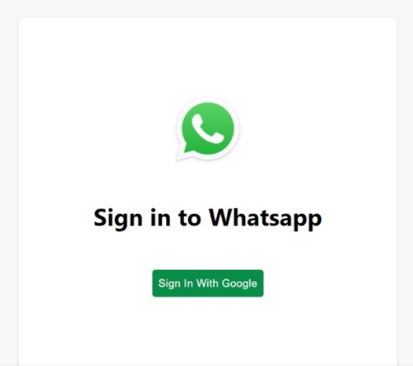 WhatsApp-signin