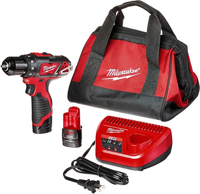 Best Drill Milwaukee 2407-22 M12 3/8 Drill Driver Kit