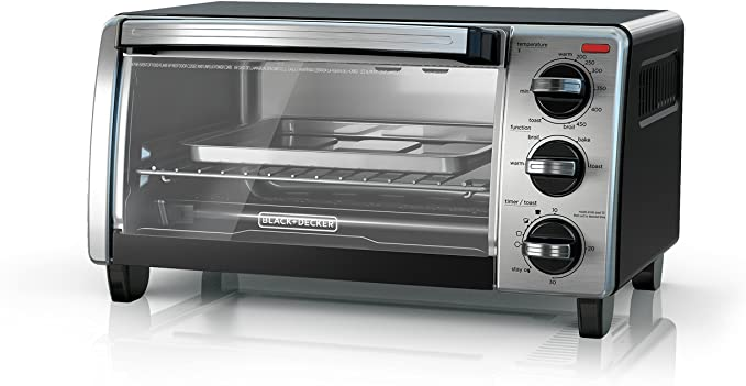 Black & Decker 4-Slice Toaster Oven TO1750SB Toaster Oven