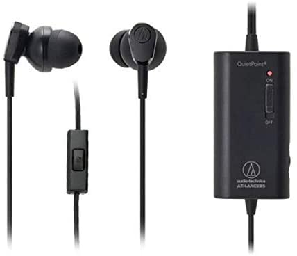 Audio Technica ATH-ANC33iS Noise Cancelling In-Ear Headphones