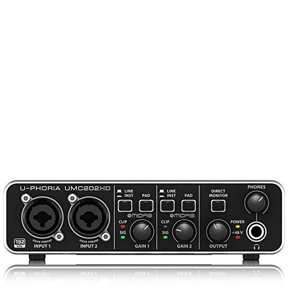 Behringer U-Phoria UMC204HD USB Audio Interface