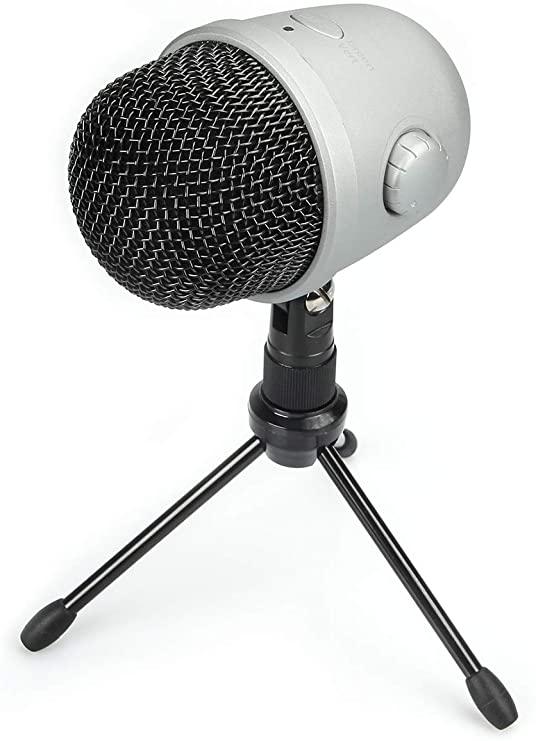 AmazonBasics Desktop Mini Condenser USB Microphone
