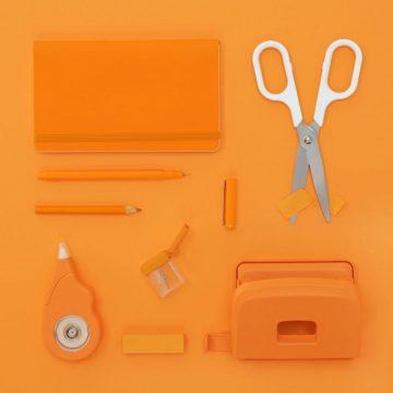 Vierkant knippen plakken oranje wit