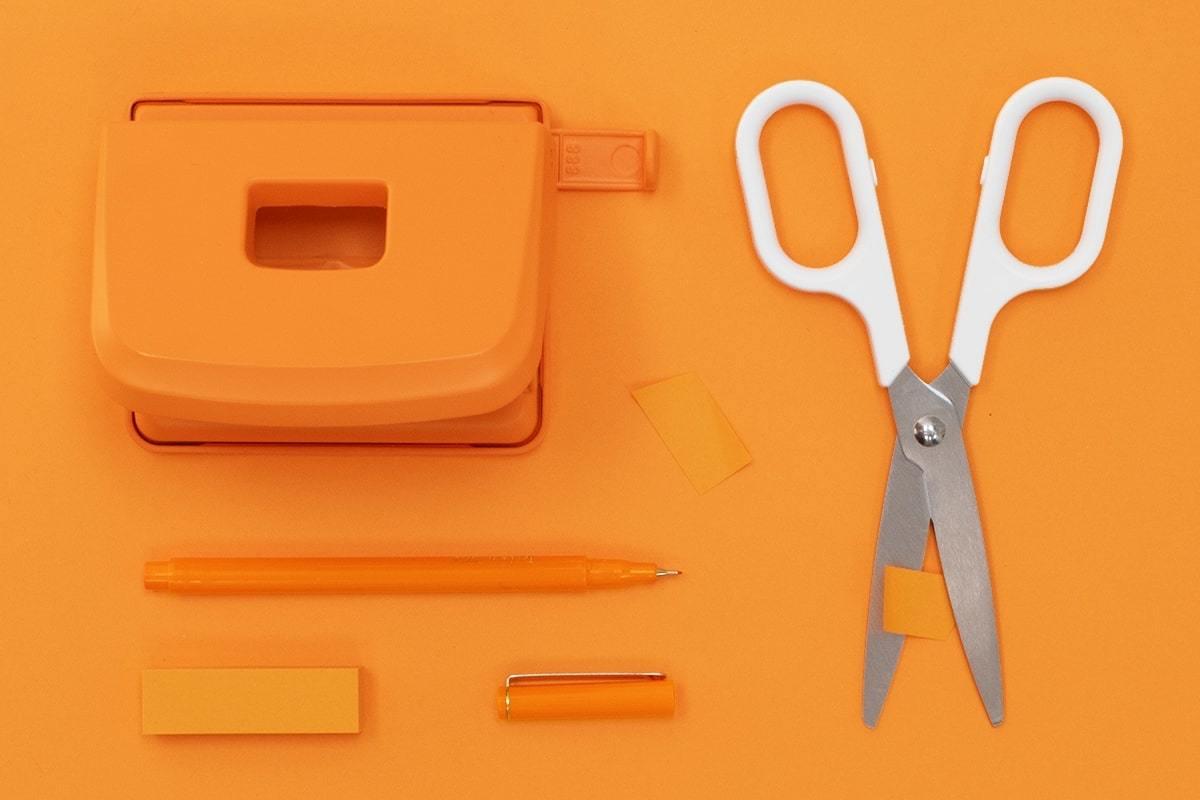 Landscape knippen plakken oranje wit