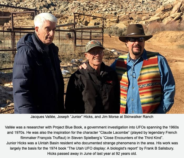 Jacques Vallée, Junior Hicks, and Jim Morse