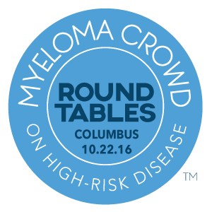 myeloma crowd round tables