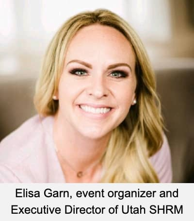 Elisa Garn, event organizer and Executive Director of Utah SHRM