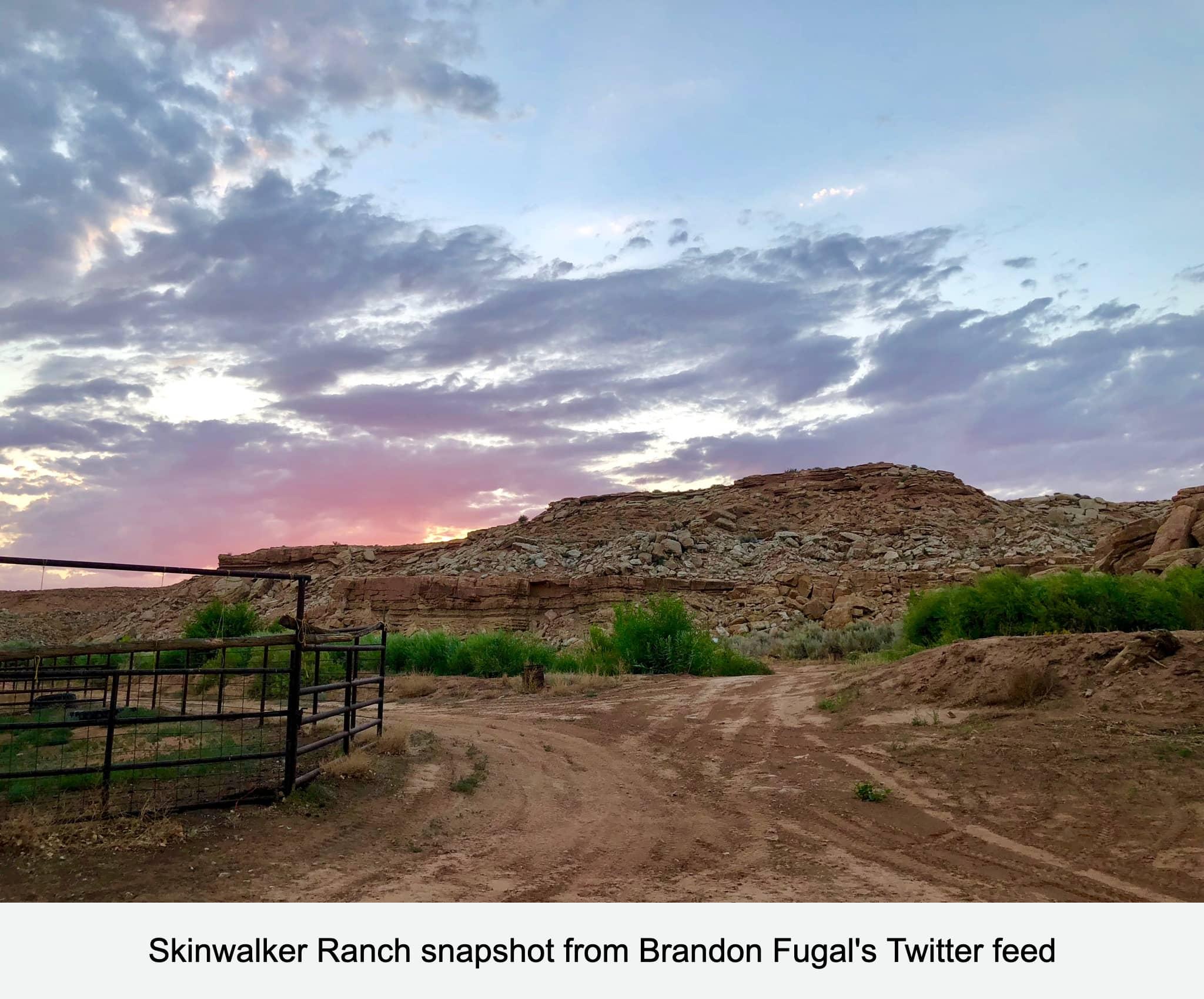 Skinwalker Ranch snapshot from Brandon Fugal's Twitter feed