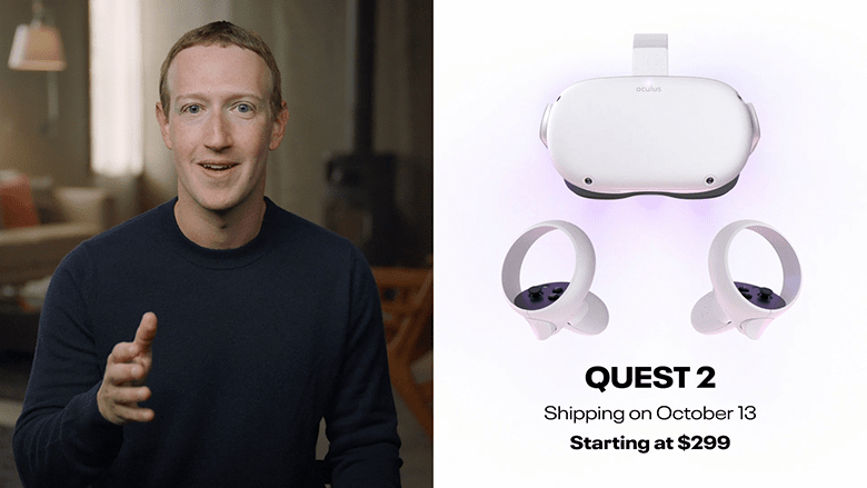 Mark Zuckerberg and the Oculus Quest 2