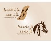 Logo en huisstijl. heerlijk-eerlijk (zorg en paardencoaching)