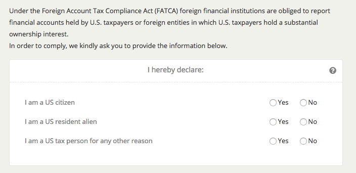 FATCA questions