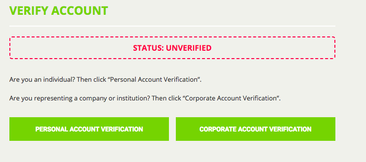 Verify account notice