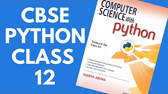 Computer Science with Python - CBSE Class 12 -Hindi