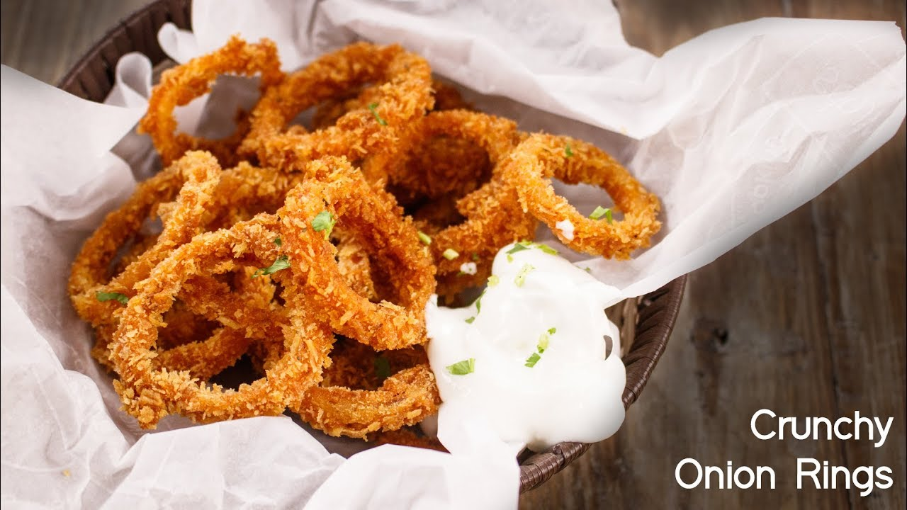 How to make Crunchy Onion Rings – Eggless Recipe