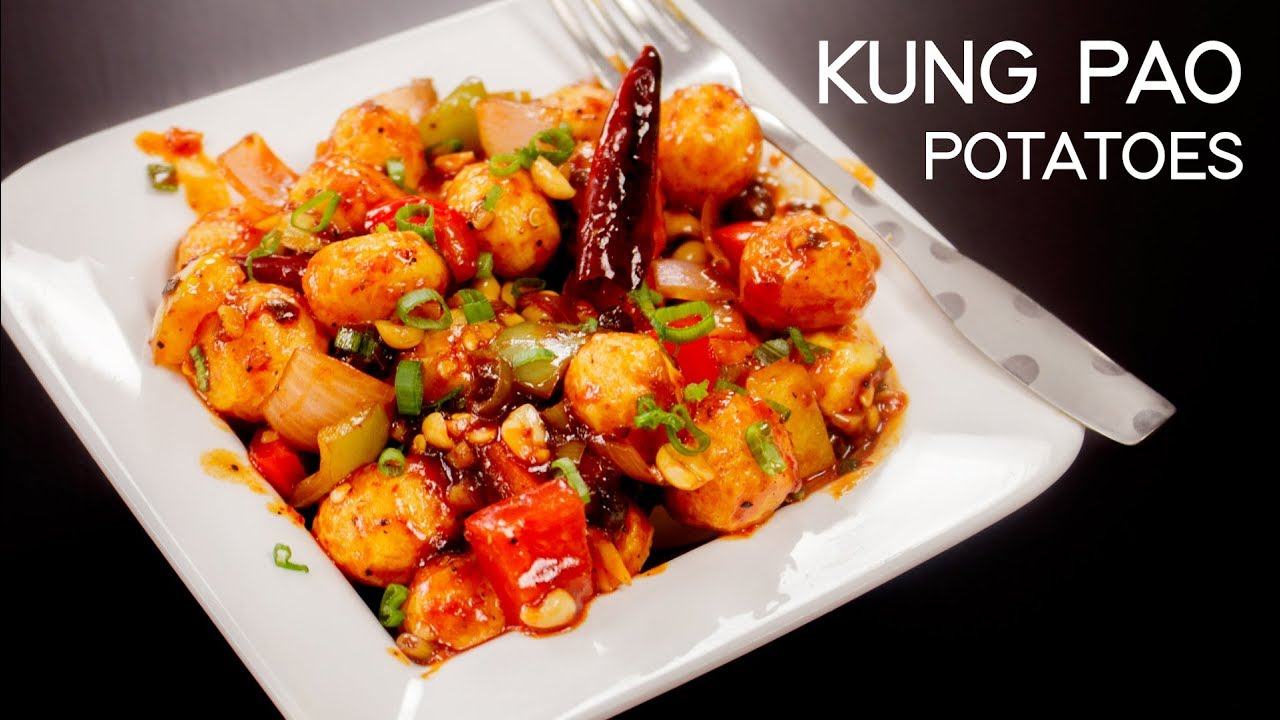 Kung Pao Potatoes Recipe – Chilli Potato Chinese Indo Style – CookingShooking