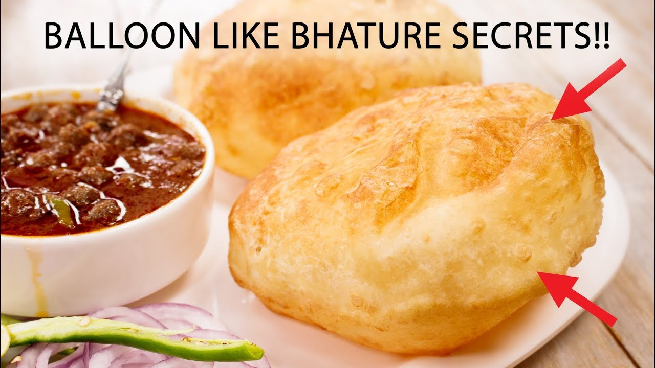Bhature – Balloon Like Perfect Bhatura Chole Recipe Secrets – CookingShooking