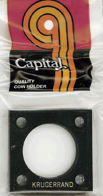 1 oz Krugerrand Capital Plastics Coin Holder 144 Type Black 2x2 1 oz Krugerrand Capital Plastics Coin Holder 144 Type Black, Capital, 144