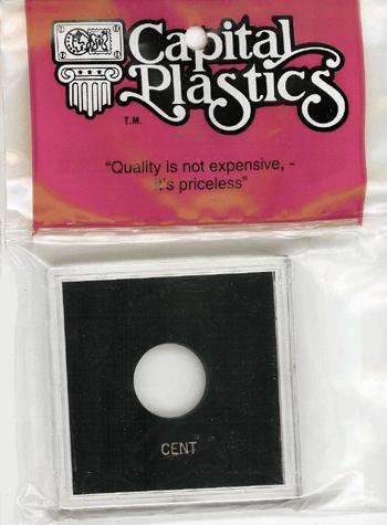 Cent Capital Plastics Coin Holder Krown Black 2.5x2.5 Cent Capital Plastics Coin Holder Krown Black, Capital, Krown