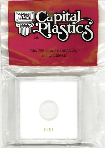 Cent Capital Plastics Coin Holder Krown White 2.5x2.5 Cent Capital Plastics Coin Holder Krown White, Capital, Krown