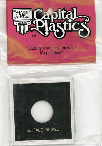 Buffalo Capital Plastics Coin Holder Krown Black 2.5x2.5 Buffalo Capital Plastics Coin Holder Krown Black, Capital, Krown