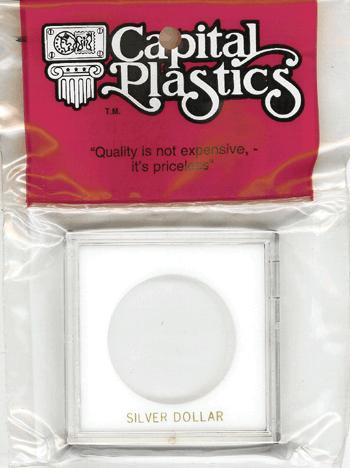 Silver Dollar Capital Plastics Coin Holder Krown White 2.5x2.5 Silver Dollar Capital Plastics Coin Holder Krown White, Capital, Krown