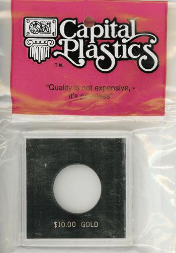 Capital Plastics $10 Gold Coin Holder Black capital plastics $10 gold coin holder black