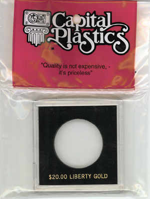 $20 Liberty Capital Plastics Coin Holder Krown Black 2.5x2.5 $20 Liberty Capital Plastics Coin Holder Krown Black, Capital, Krown
