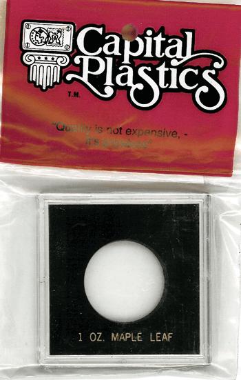1 oz Maple Capital Plastics Coin Holder Krown Black 2.5x2.5 1 oz Maple Capital Plastics Coin Holder Krown Black, Capital, Krown