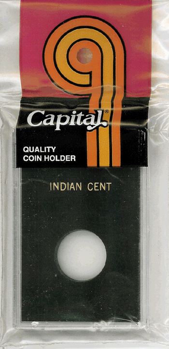 Indian Cent Capital Plastics Coin Holder Caps Black 2x3 Indian Cent Capital Plastics Coin Holder Caps Black, Capital, Caps