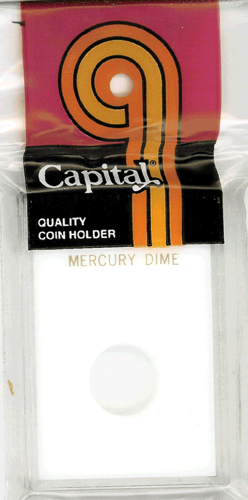 Mercury Dime Capital Plastics Coin Holder Caps White 2x3 Mercury Dime Capital Plastics Coin Holder Caps White, Capital, Caps