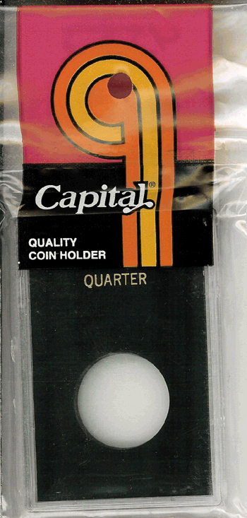 Quarter Capital Plastics Coin Holder Caps Black 2x3 Quarter Capital Plastics Coin Holder Caps Black, Capital, Caps