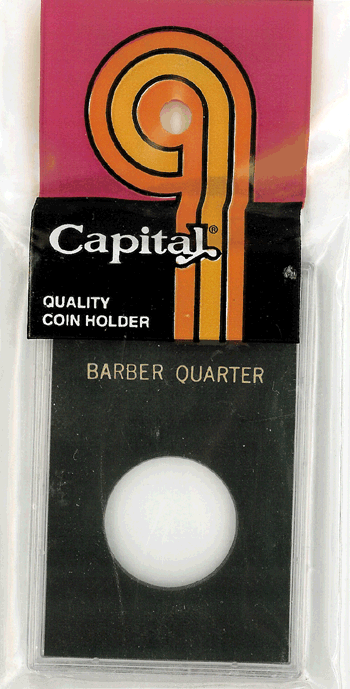 Barber Quarter Capital Plastics Coin Holder Caps Black 2x3 Barber Quarter Capital Plastics Coin Holder Caps Black, Capital, Caps