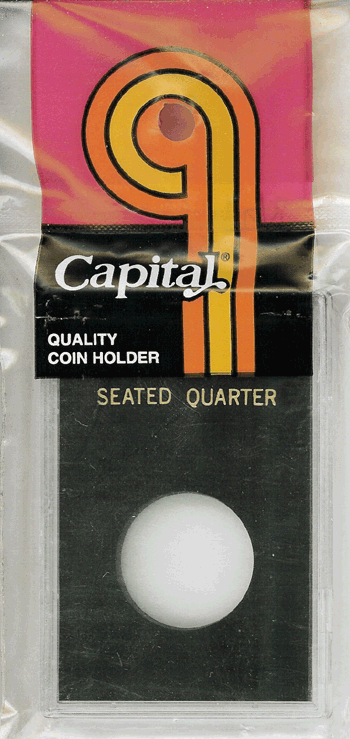 Seated Liberty Quarter Capital Plastics Coin Holder Caps Black 2x3 Seated Liberty Quarter Capital Plastics Coin Holder Caps Black, Capital, Caps
