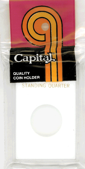 Standing Liberty Quarter Capital Plastics Coin Holder Caps White 2x3 Standing Liberty Quarter Capital Plastics Coin Holder Caps White, Capital, Caps