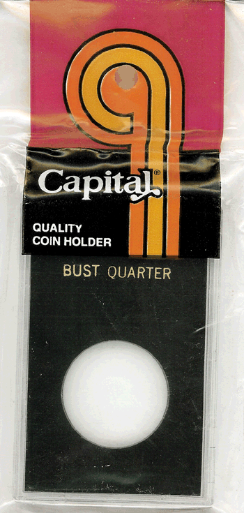 Bust Quarter Capital Plastics Coin Holder Caps Black 2x3 Bust Quarter Capital Plastics Coin Holder Caps Black, Capital, Caps