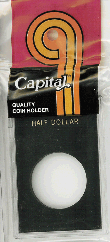 Half Dollar Capital Plastics Coin Holder Caps Black 2x3 Half Dollar Capital Plastics Coin Holder Caps Black, Capital, Caps