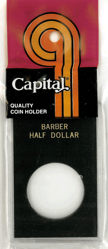 Barber Half Dollar Capital Plastics Coin Holder Caps Black 2x3 Barber Half Dollar Capital Plastics Coin Holder Caps Black, Capital, Caps