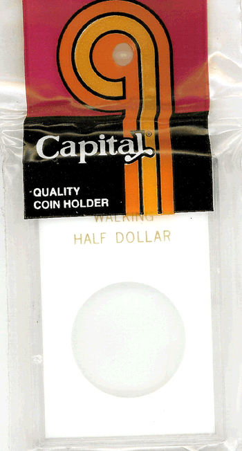 Walking Liberty Half Dollar Capital Plastics Coin Holder Caps White 2x3 Walking Liberty Half Dollar Capital Plastics Coin Holder Caps White, Capital, Caps