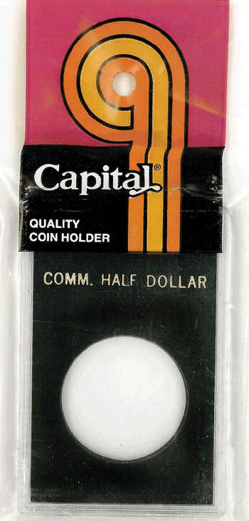 Commemorative Half Dollar Capital Plastics Coin Holder Caps Black 2x3 Commemorative Half Dollar Capital Plastics Coin Holder Caps Black, Capital, Caps