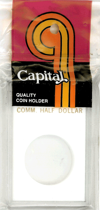 Commemorative Half Dollar Capital Plastics Coin Holder Caps White 2x3 Commemorative Half Dollar Capital Plastics Coin Holder Caps White, Capital, Caps