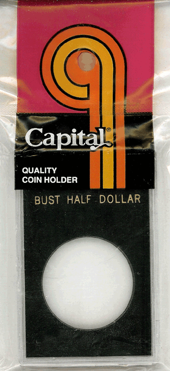 Bust Half Dollar Capital Plastics Coin Holder Caps Black 2x3 Bust Half Dollar Capital Plastics Coin Holder Caps Black, Capital, Caps